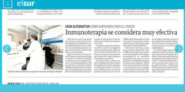 Diario El Sur | Inmunoterapia se considera muy efectiva