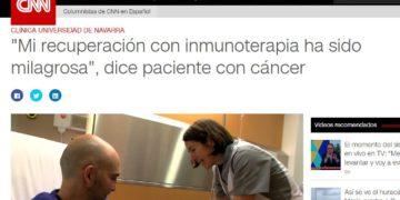 """Mi recuperación con inmunoterapia ha sido milagrosa"""", dice paciente con cáncer"""